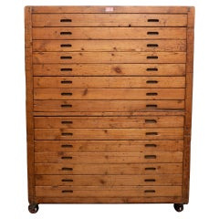 20th Century Antique Wooden Bakery Cabinet