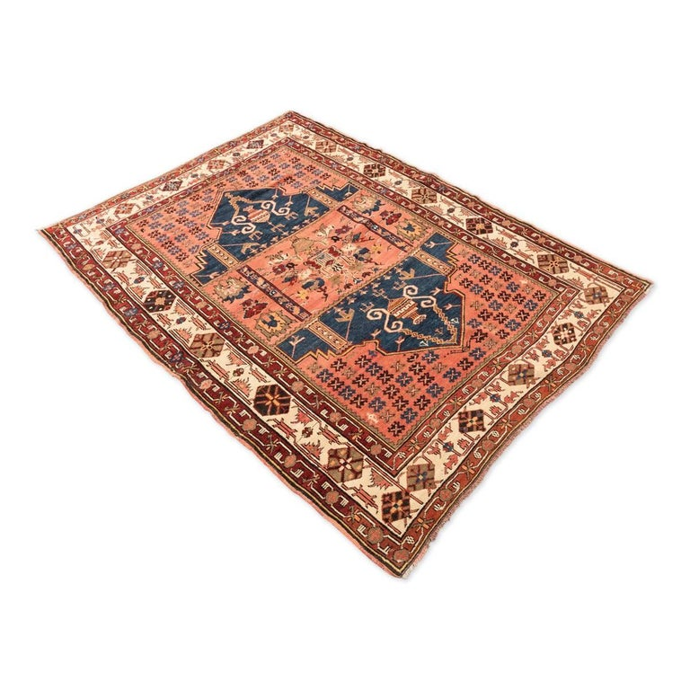 Tribal 20th Century Antique Wool Rug, Derbend with Double Niche Design, circa 1920 For Sale