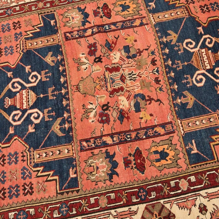 Turkish 20th Century Antique Wool Rug, Derbend with Double Niche Design, circa 1920 For Sale