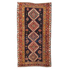20th Century Antique Wool Rug, Kazak with Geometric Design, circa 1900