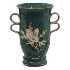20th Century Art Deco Airbrushed Ceramic Vase