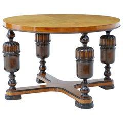 20th Century Art Deco Birch and Elm Coffee Table