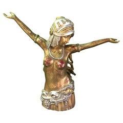 20th Century Art Deco Carved-Wood Figure