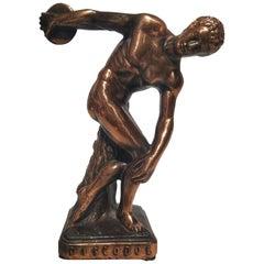 20th Century Art Deco Metame Sculpture Figure Bronze Discobolus