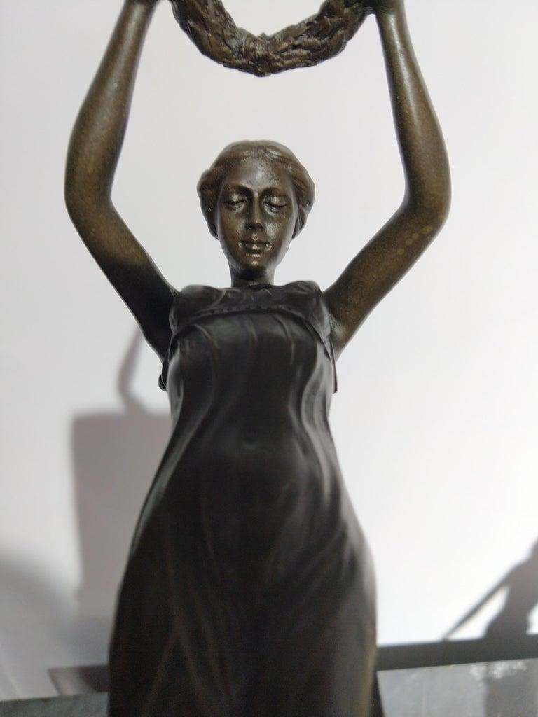 20th Century Art Deco Sculpture Figure Bronze Nymph Daphne By Milo For Sale 3