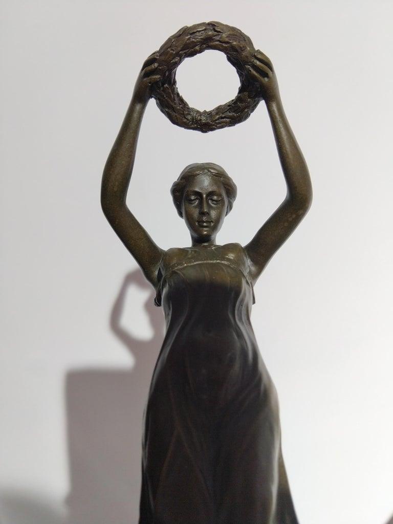 20th Century Art Deco Sculpture Figure Bronze Nymph Daphne By Milo For Sale 2