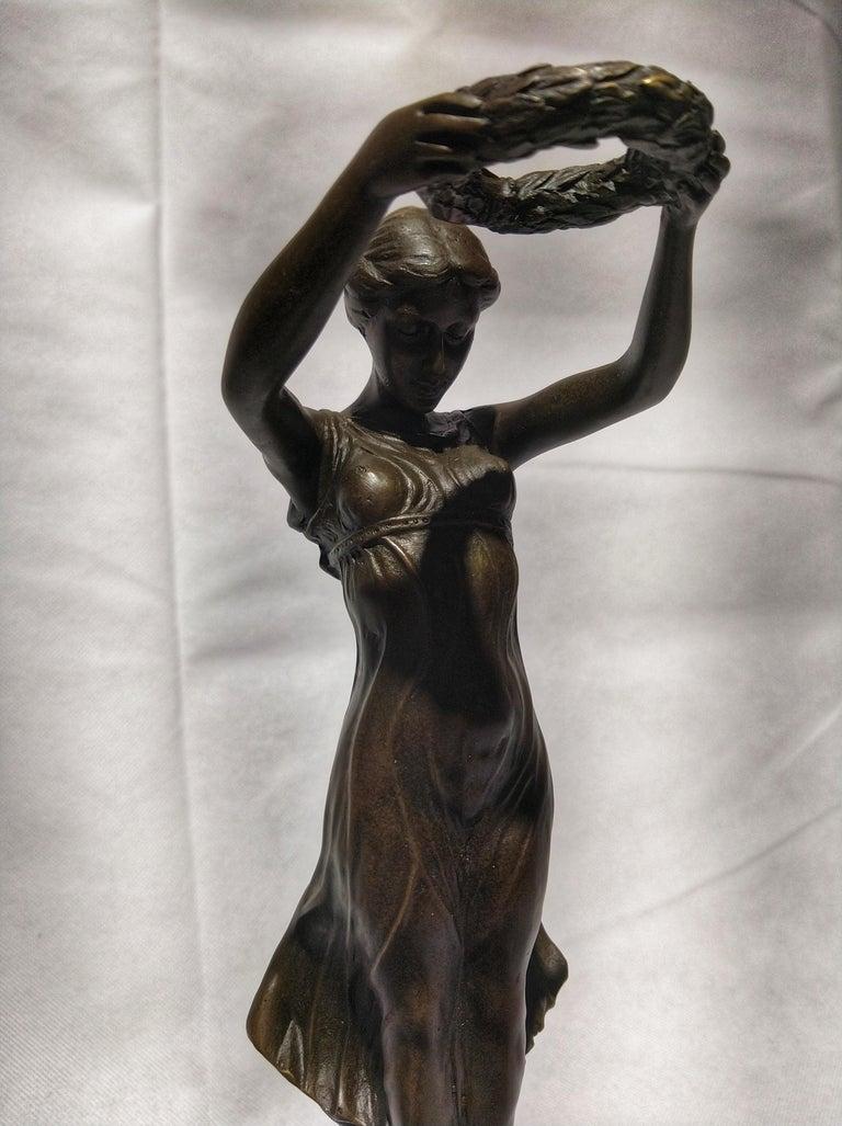 20th Century Art Deco Sculpture Figure Bronze Nymph Daphne By Milo In Excellent Condition For Sale In Toledo, Castilla La Mancha