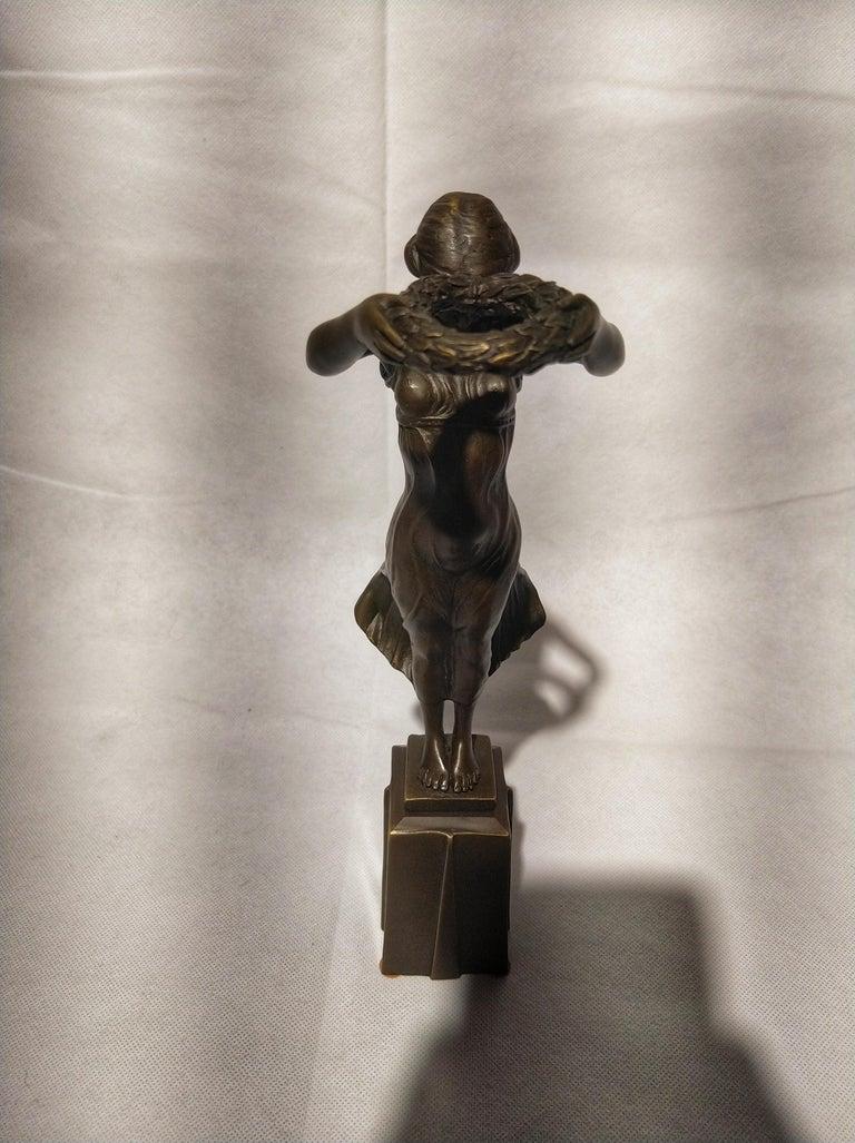 Late 20th Century 20th Century Art Deco Sculpture Figure Bronze Nymph Daphne By Milo For Sale