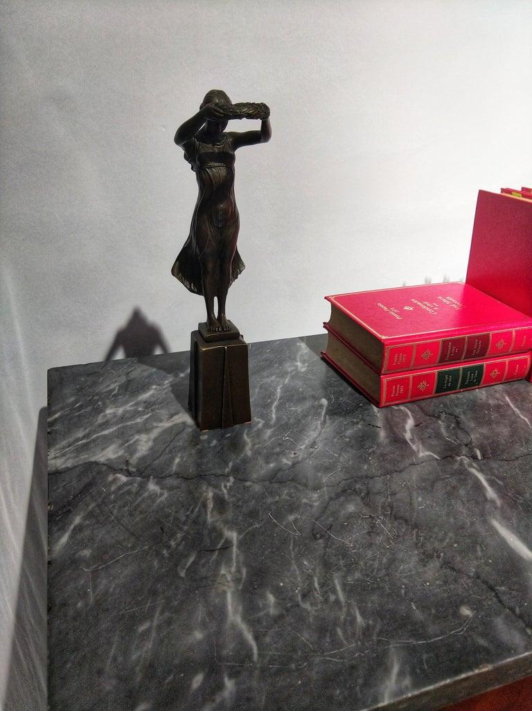 20th Century Art Deco Sculpture Figure Bronze Nymph Daphne By Milo For Sale 1