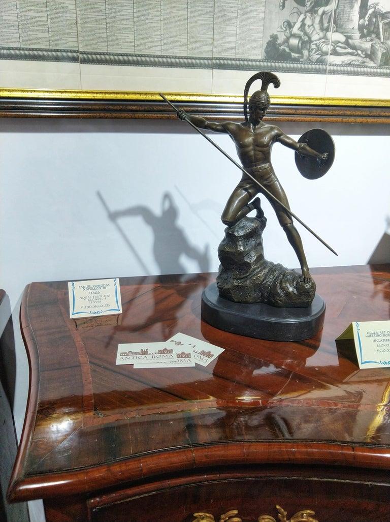 20th Century Sculpture Figure Bronze Mars God of War or Achilles For Sale 2