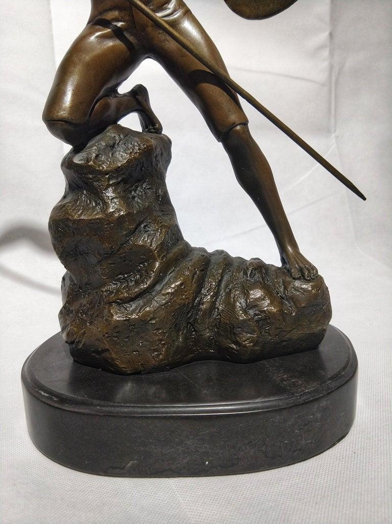 British 20th Century Sculpture Figure Bronze Mars God of War or Achilles For Sale