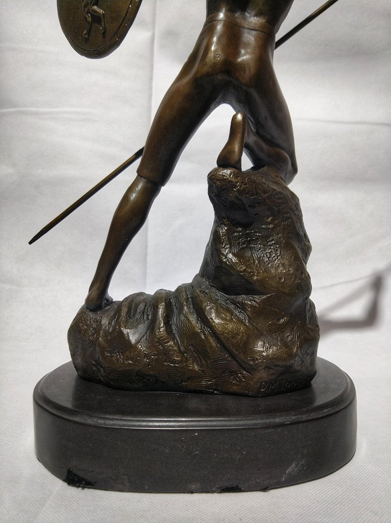 Late 20th Century 20th Century Sculpture Figure Bronze Mars God of War or Achilles For Sale