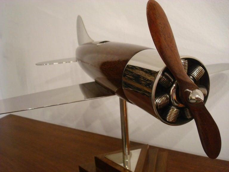 20th Century, Art Deco Streamline Airplane Wooden Model Sculpture, 1930s For Sale 2