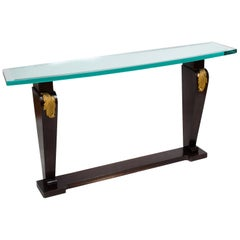 20th Century Art Deco-Style Ebonized Console Table
