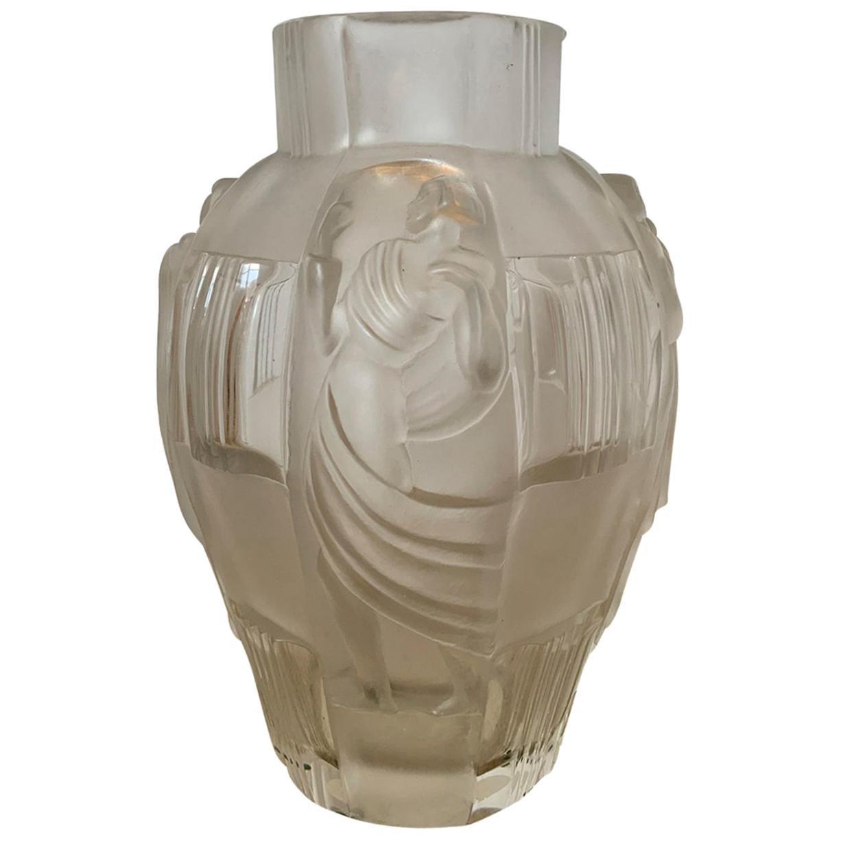 20th Century Art Deco Style Glass Vase