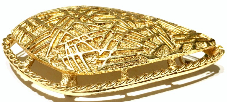 Women's or Men's 20th Century Art Deco Style Gold Plate Brooch & Necklace Pendant By, Coventry For Sale