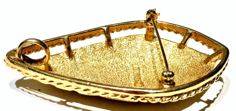 20th Century Art Deco Style Gold Plate Brooch & Necklace Pendant By, Coventry For Sale 2