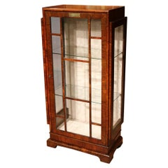 20th Century Art Deco Walnut Display Cabinet