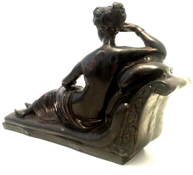 SIGNED PHILLIPPE ART NOUVEAU NUDE WOMAN AWAKENING BRONZE