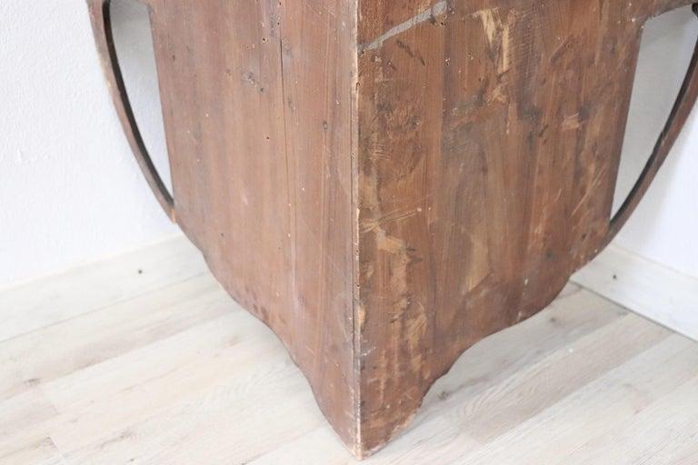 20th Century Art Nouveau Corner Cupboard or Corner Cabinet in Poplar Wood For Sale 5