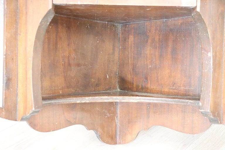 Early 20th Century 20th Century Art Nouveau Corner Cupboard or Corner Cabinet in Poplar Wood For Sale