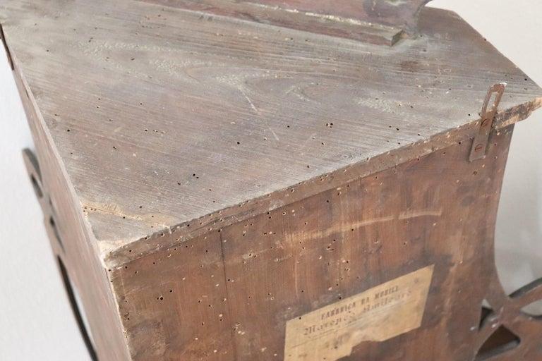 20th Century Art Nouveau Corner Cupboard or Corner Cabinet in Poplar Wood For Sale 4