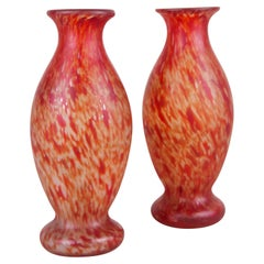 20th Century Art Nouveau Glass Vases, France, circa 1900