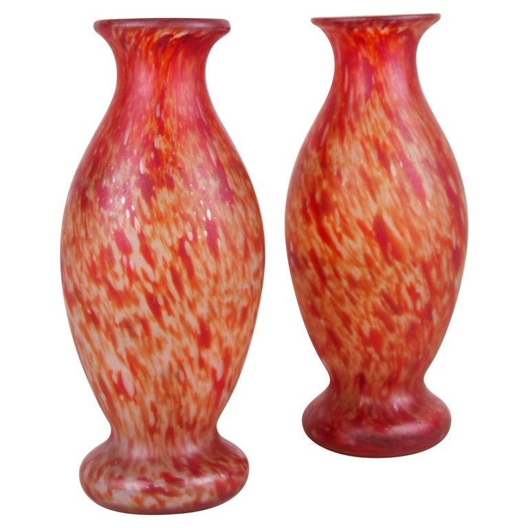 20th Century Art Nouveau Glass Vases, France, circa 1900 For Sale
