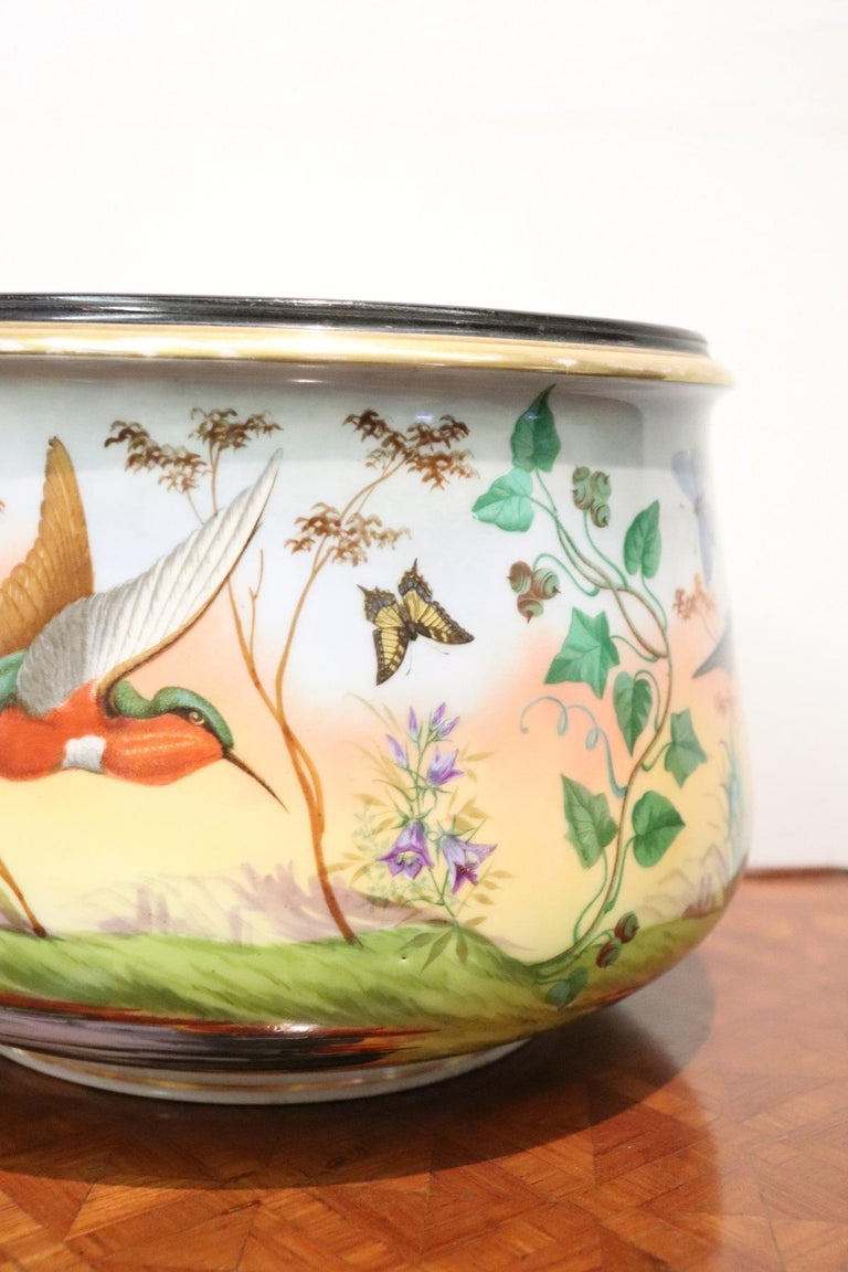 Hand-Painted 20th Century Art Nouveau Hand Painted Ceramic Vase, 1920s For Sale