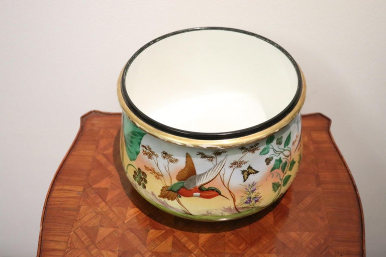 20th Century Art Nouveau Hand Painted Ceramic Vase, 1920s In Good Condition For Sale In Bosco Marengo, IT