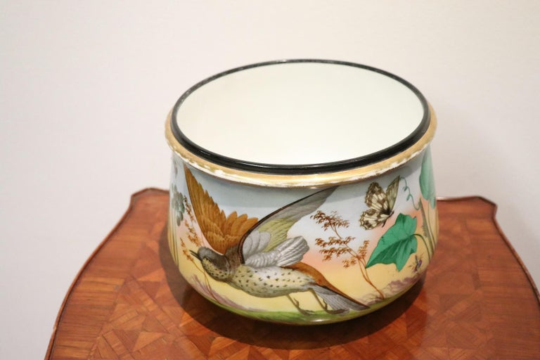 Early 20th Century 20th Century Art Nouveau Hand Painted Ceramic Vase, 1920s For Sale