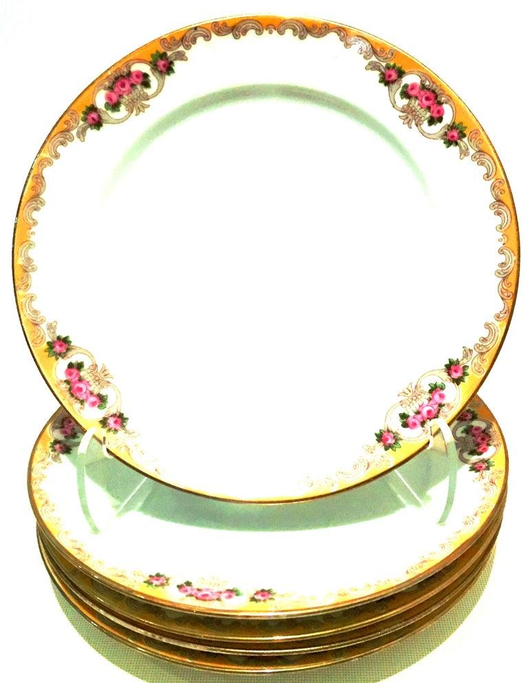 French 20th Century Art Nouveau Limoges France Dinnerware Set of 17 by, M. Redon For Sale