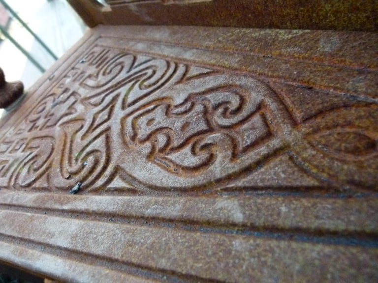 20th Century Art Nouveau Style Iron Spiral Staircase For Sale 10