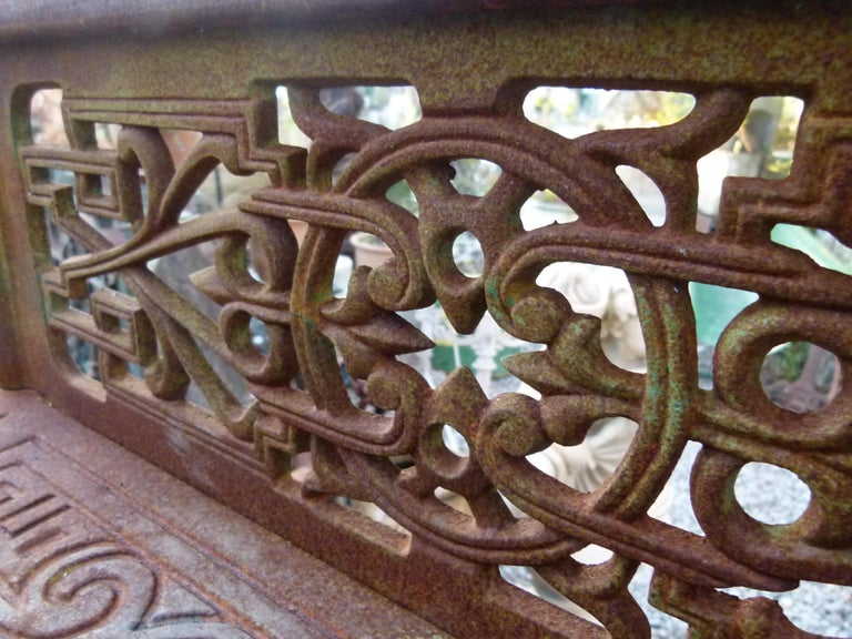 20th Century Art Nouveau Style Iron Spiral Staircase For Sale 11