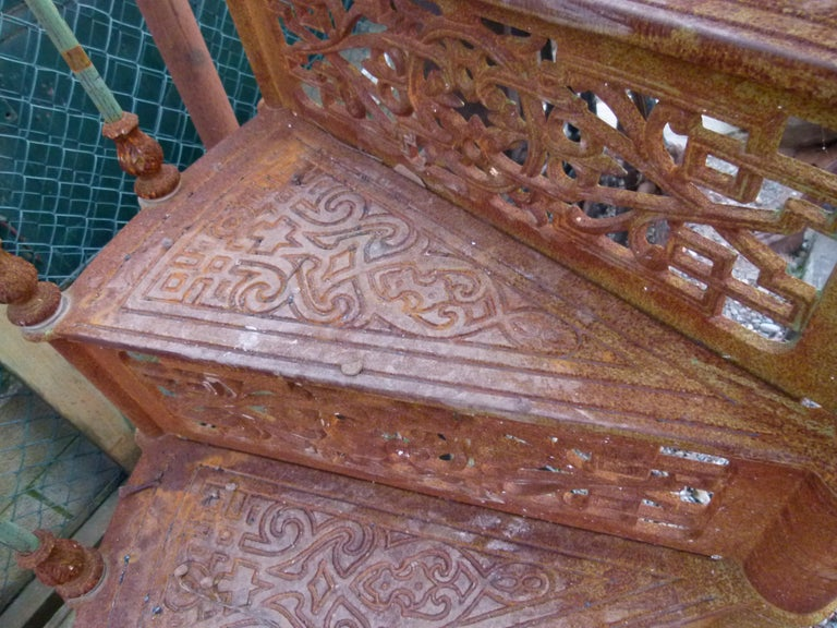 20th Century Art Nouveau Style Iron Spiral Staircase For Sale 1