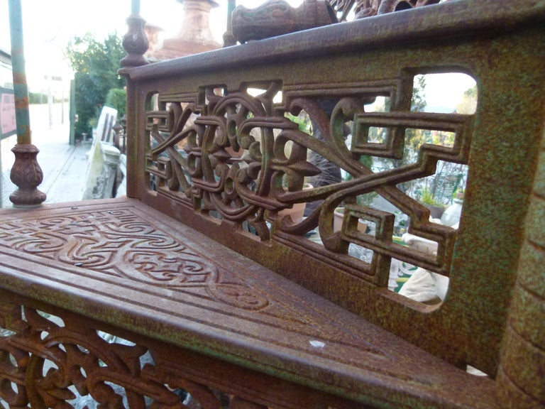 20th Century Art Nouveau Style Iron Spiral Staircase For Sale 2