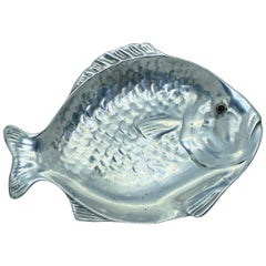 20th Century Arthur Court Fish Aluminum Tray Plate Platter, 1976