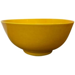 20th Century Asian Yellow Porcelain Bowl