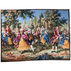 "20th Century Aubusson Style ""Dance and Celebration"" Tapestry"