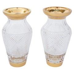 20th Century Austrian Crystal Pair Vase