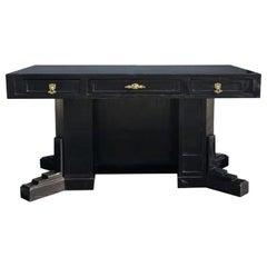 20th Century Austrian Ebonized Freestanding Writing Desk by Wiener Werkstätte