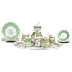 20th Century Austrian Green Tea Service for Three