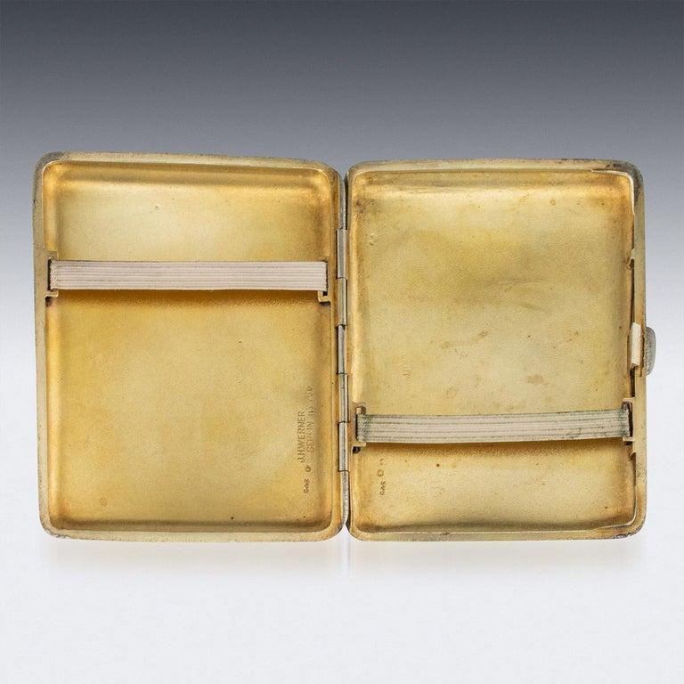 20th Century Austrian Solid Silver and Enamel Cigarette Case, G.A.S, circa 1910 1