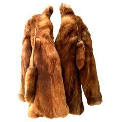 20th Century Authentic German Red Fox Fur Coat By, Eich Pelz