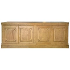 20th Century Baker Louis XVI Style Pine Four-Door Credenza, Labeled