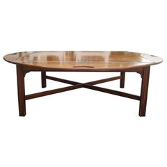 20th Century Baker Mahogany Oversized Butler's Tray Coffee Table