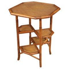 20th Century Bamboo Wood Spanish Design Side Table, 1960