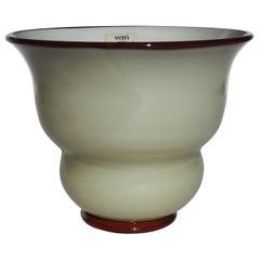 20th Century Barovier & Toso Murano Blown Glass Small Vase, Italy, 1983