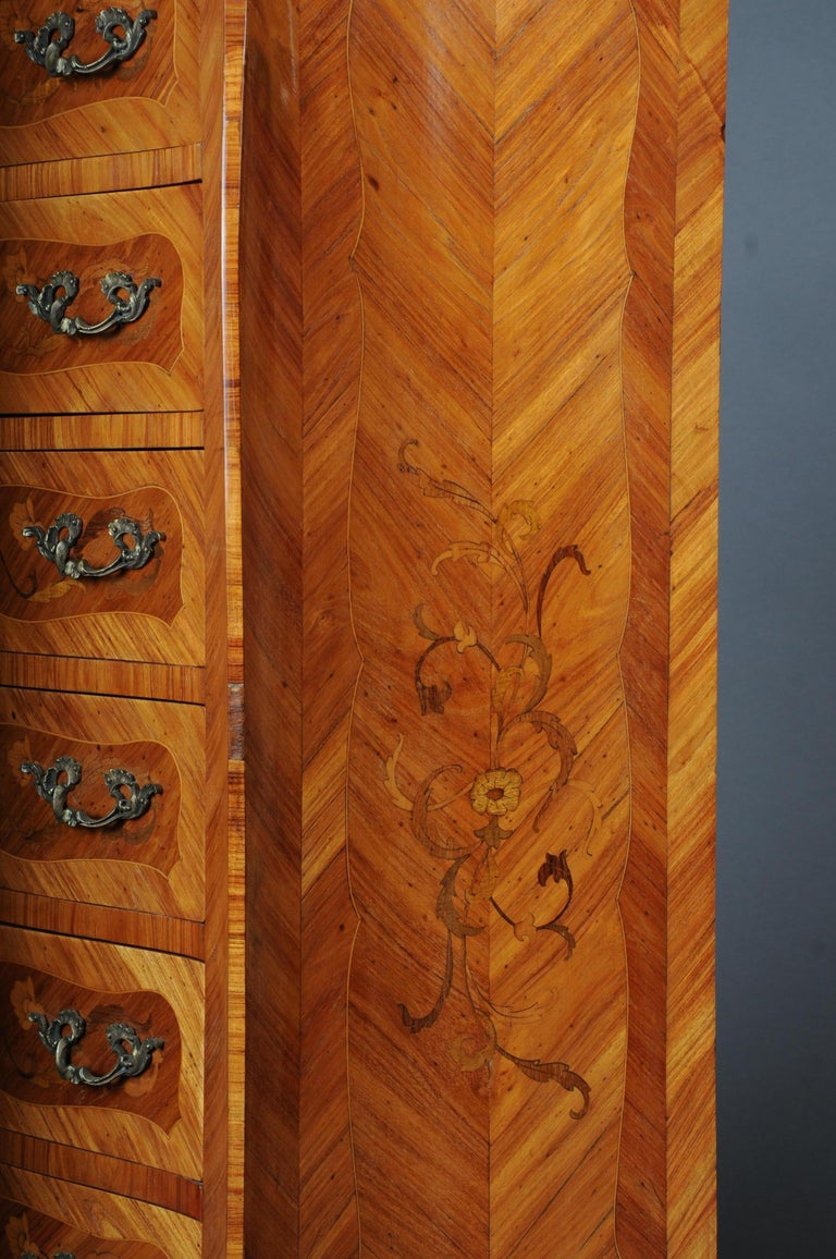 20th Century Beautiful High Chest of Drawers / Chiffoniere in Louis XV For Sale 4