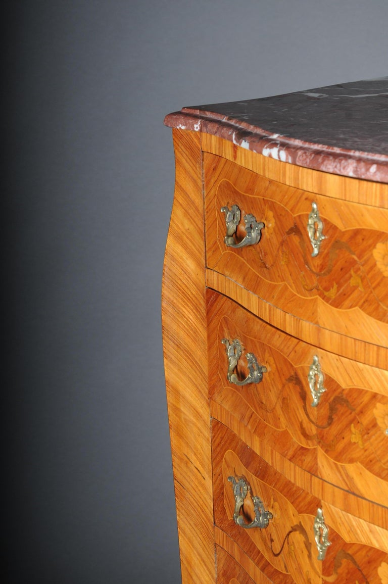 20th Century Beautiful High Chest of Drawers / Chiffoniere in Louis XV For Sale 6